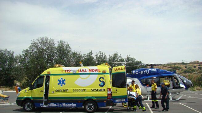 Ambulancia del SESCAM de Castilla-La Mancha.
