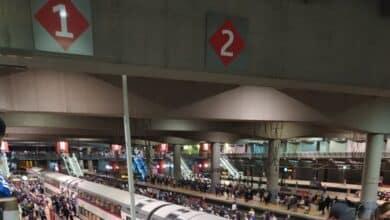 Aglomeraciones en la estación de Atocha por la huelga de Renfe