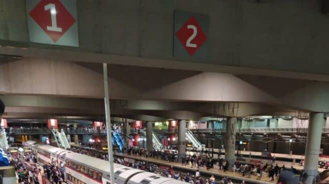 Aglomeraciones en la estación de Atocha por la huelga en Renfe.a