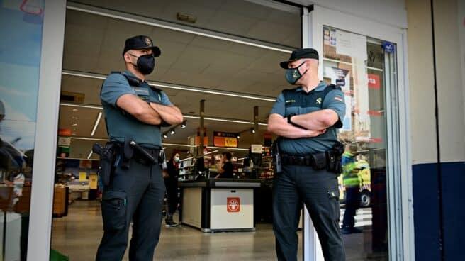 La Guardia Civil en El Molar tras la detención de Noelia de Mingo.