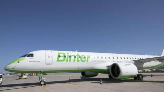Avión de la compañía Binter Canarias.