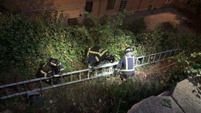 Operación de rescate de los bomberos en Madrid.