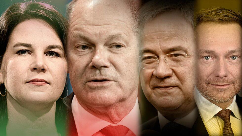 Imagen de los cuatro candidatos en las elecciones en Alemania
