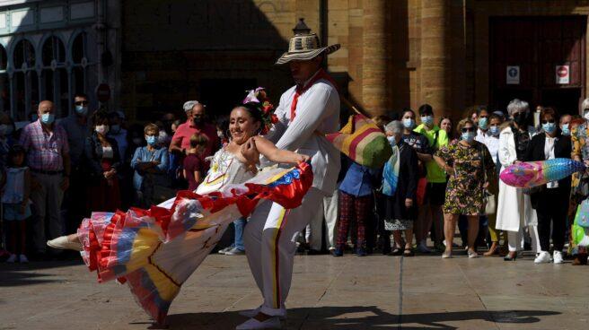 """Tradicional """"Día de América en Asturias"""" celebrado en el marco de las fiestas patronales de San Mateo de Oviedo."""