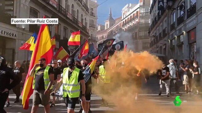 La marcha homófoba de Chueca, en imagen de La Sexta.