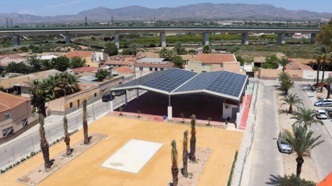 Vista aérea de la instalación fotovoltaica de El Realengo.