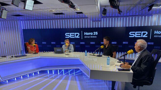Carmen Calvo, Pablo Iglesias y García Margallo en El Ágora de Hora25 presentado por Aimar Bretos