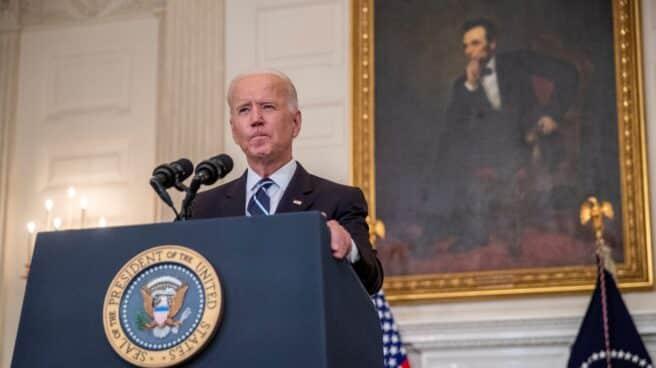 Joe Biden, presidente de Estados Unidos, en una comparecencia ante los medios