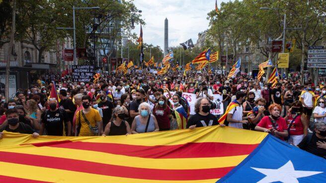 Manifestación convocada por los CDR en Barcelona.