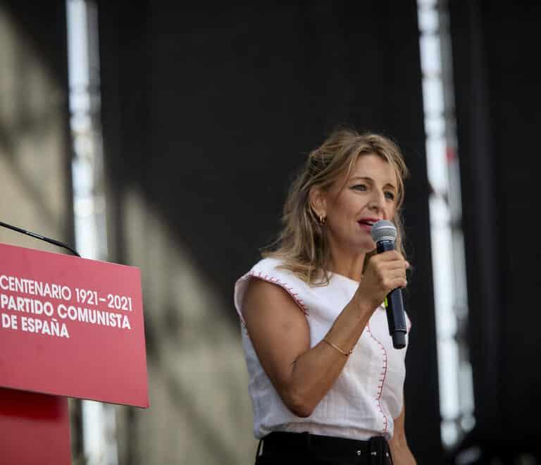 """Yolanda Díaz: """"Vamos a derogar la reforma laboral"""""""
