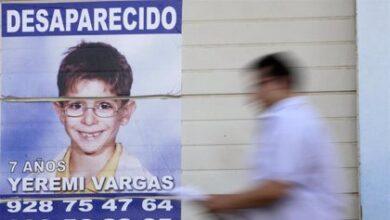 El juez reabre el caso por la desaparición de Yéremi Vargas