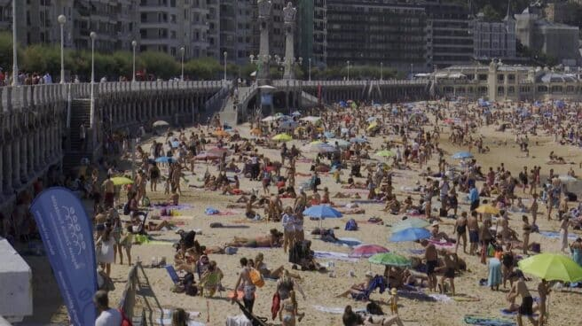 Playa de La Concha (San Sebastián).