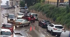 Una fuerte tormenta provoca inundaciones y daños en Lucena