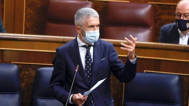 El ministro Fernando Grande-Marlaska en una sesión de control del consejo de ministros