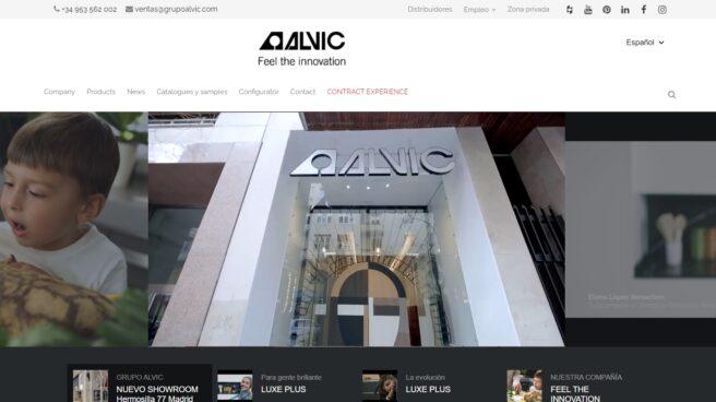 Página web de la compañía donde se muestra un vídeo del showroom