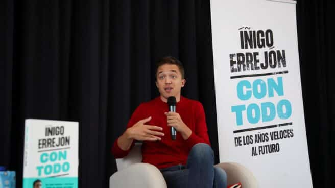 Iñigo Errejón, durante la presentación de su libro.