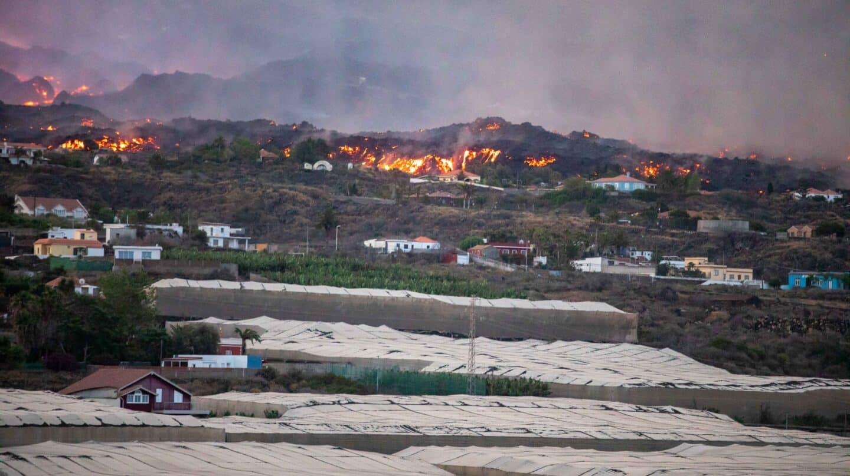 La lava entra en plataneras y quema plástico de invernaderos y fertilizantes