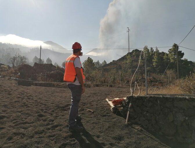 Preocupa la calidad del aire y el olor a huevo podrido junto al volcán de La Palma