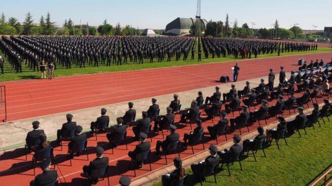 Jura de una de las últimas promociones de la Policía Nacional en la Escuela de Ávila.