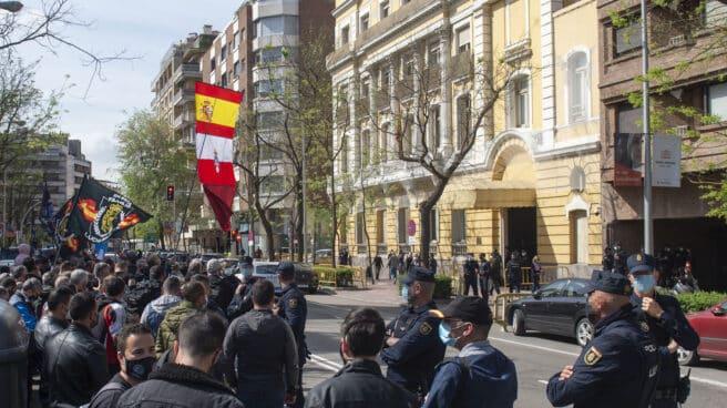 Imagen de archivo de una concentración de JUSAPOL frente a la Dirección General de la Policía
