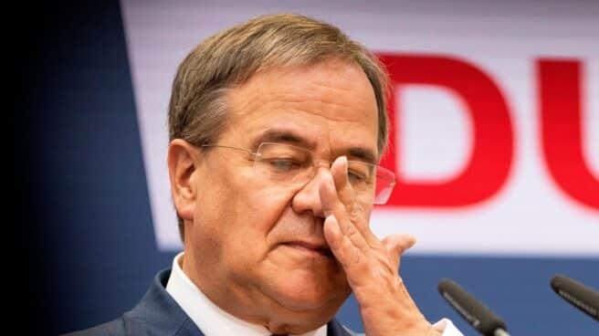 El candidato de la Unión a la Cancillería, Armin Laschet, en la sede de la CDU en Berlín.