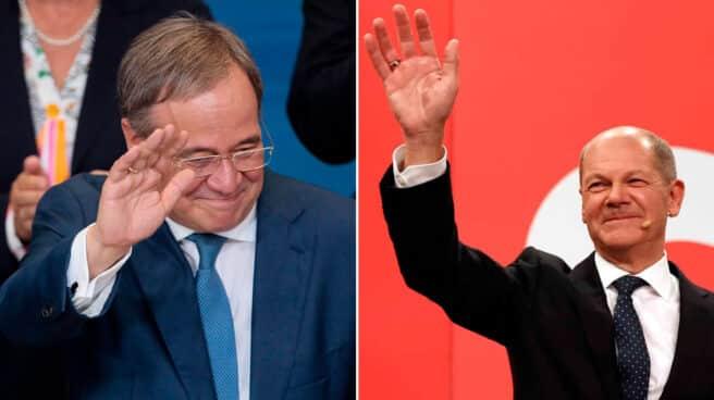 Imagen de los candidatos a las elecciones en Alemania 26-S, Laschet y Scholz