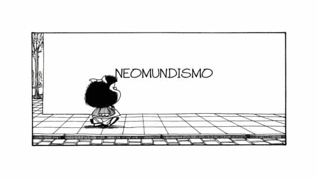 Viñeta de Mafalda, el personaje más célebre de Quino