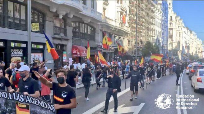 Participantes en la manifestación que partió el pasado sábado de la Plaza de Chueca, en Madrid.