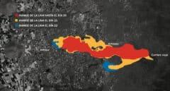 Nueve hectáreas diarias: así avanza la lava en La Palma