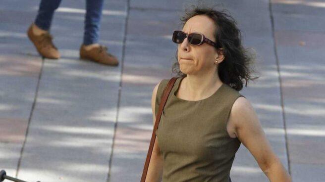 Noelia de Mingo, en los Juzgados de Plaza de Castilla.