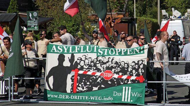 Concentración del partido Der Dritte Weg (La Tercera Vía) en Fürth.