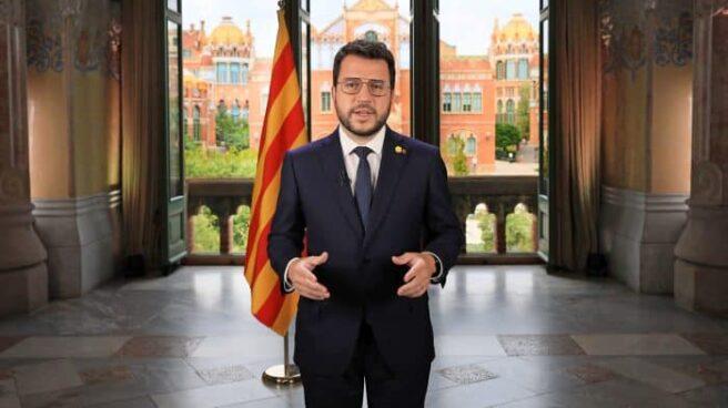Mensaje institucional de Pere Aragonès previo a la Diada del 11-S.