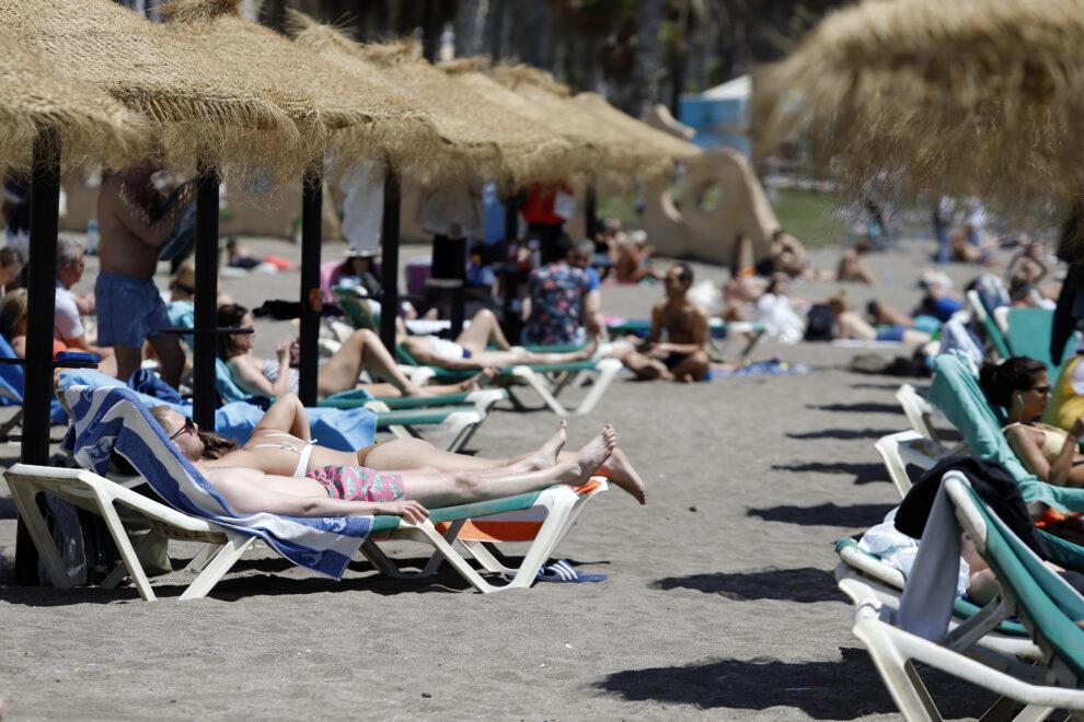 Imagen de la playa de Málaga.