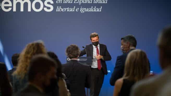 El presidente del PP, Pablo Casado, en un acto de partido.