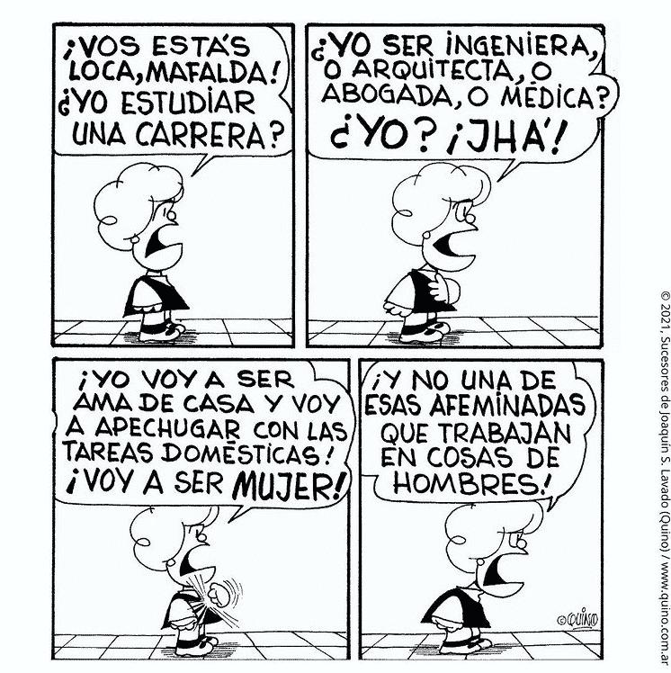Viñeta de Susanita, personaje de Mafalda