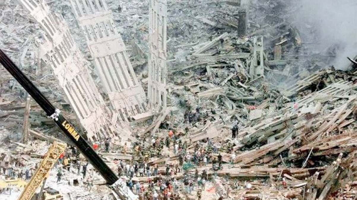 Imagen de los restos de las Torres Gemelas tras los atentados del 11S