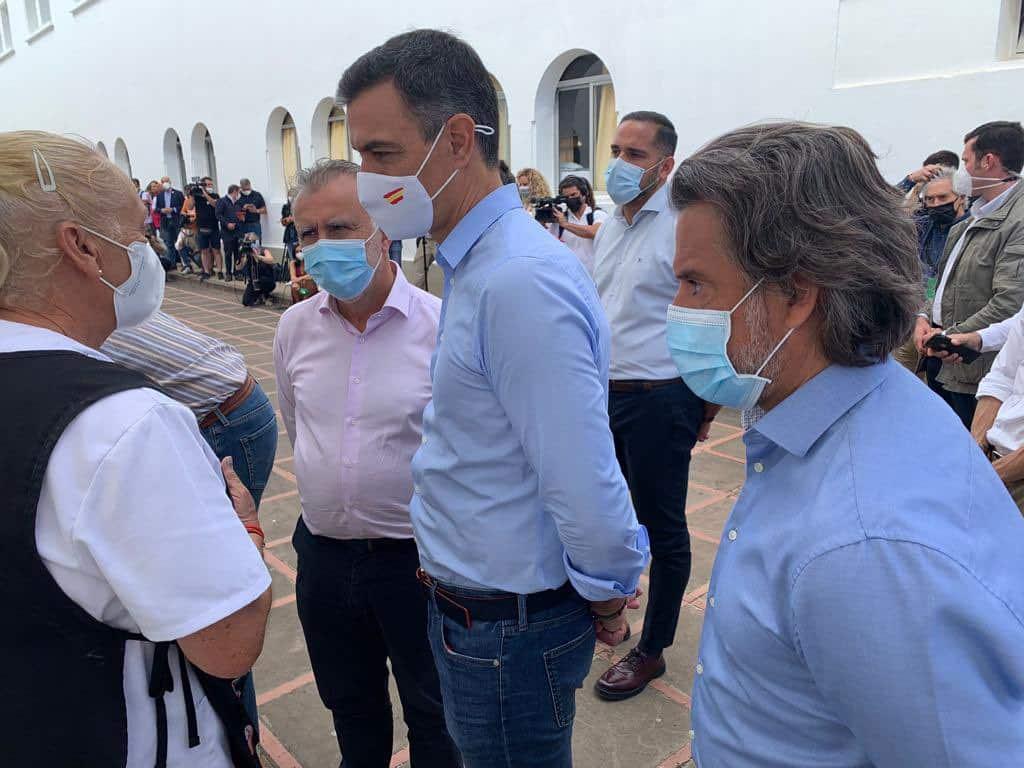 Pedro Sánchez en su visita a La Palma