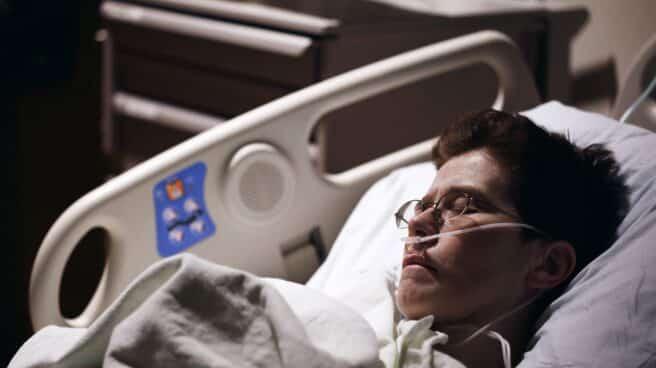 Un afectado de una enfermedad pulmonar.