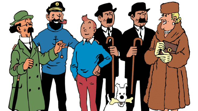 Tintin y sus personajes