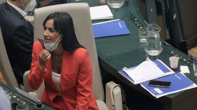 Begoña Villacís, en el Pleno del Ayuntamiento de Madrid.