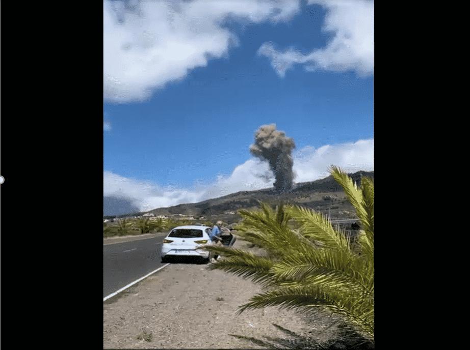 Comienza la erupción en la Cumbre Vieja de La Palma