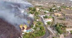 Primeras imágenes en dron del descenso de la lava en La Palma