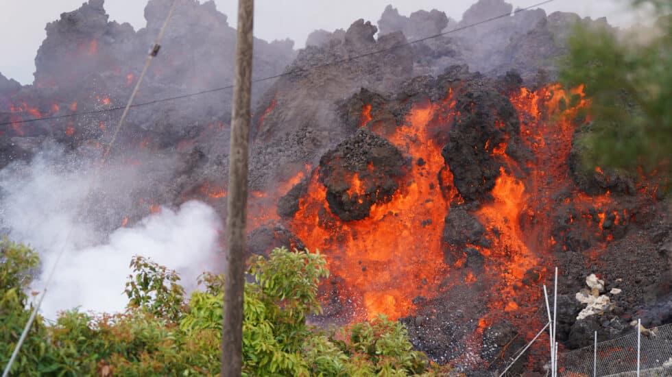 Imagen de una colada de lava en la isla de La Palma