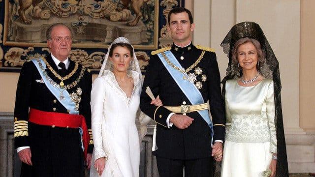 Familia Real en la boda de Felipe IV y la ahora reina, Letizia