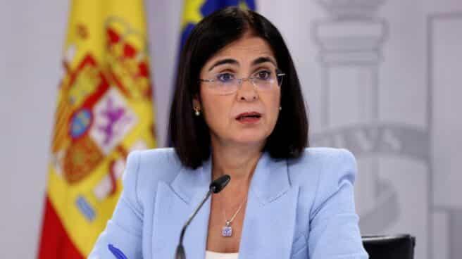 La ministra de Sanidad, Carolina Darias, ofrece una rueda de prensa tras la reunión del Consejo Interterritorial del Sistema Nacional de Salud este miércoles en Madrid