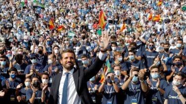 """Casado oficializa su candidatura a Moncloa y se crece ante Sánchez y ante Vox: """"El PP ha vuelto"""""""