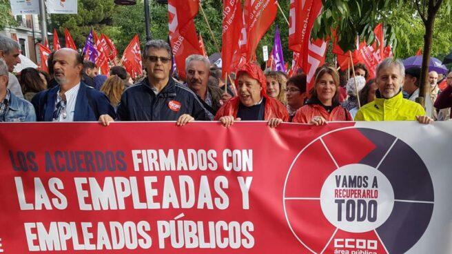 Manifestación de empleados de la Administración.