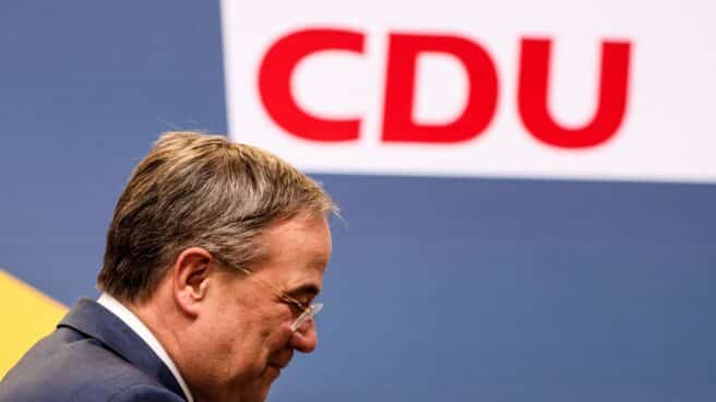 Armin Laschet, líder de la CDU, en rueda de prensa en Berlín