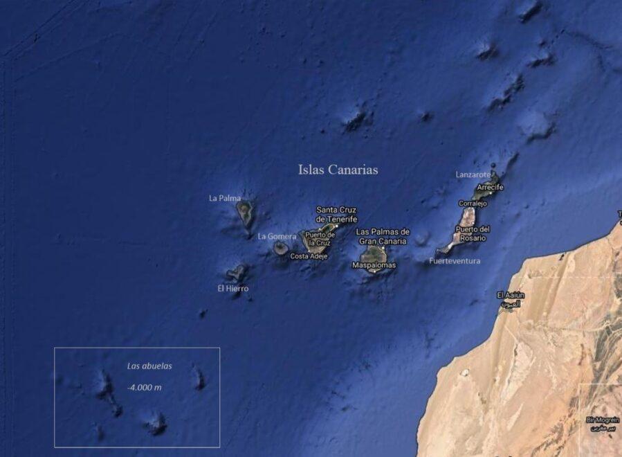 """Islas sumergidas cercanas a las Islas Canarias que estuvieron emergidas. Son volcanes extintos a los que algunos científicos apodan """"Las Abuelas"""""""