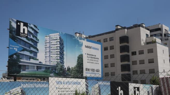 Cartel de una promotora de vivienda en Madrid.